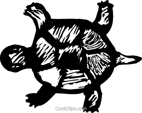 turtle Royalty Free Vector Clip Art illustration vc044261
