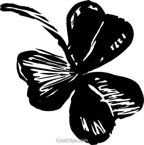 shamrock Royalty Free Vector Clip Art illustration vc044269