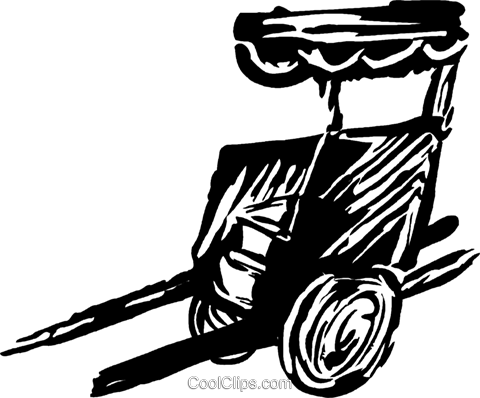 rickshaw Royalty Free Vector Clip Art illustration vc044270