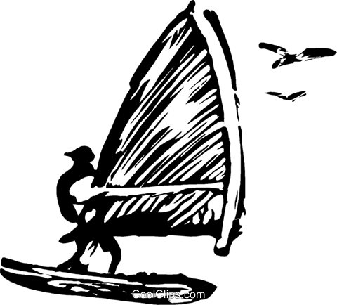 windsurfer Royalty Free Vector Clip Art illustration vc044280
