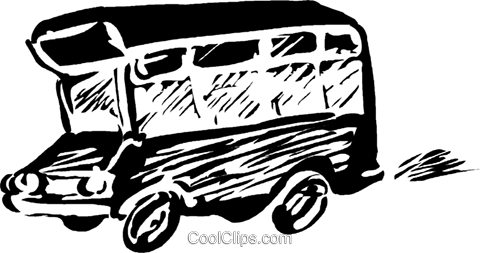 tour bus Royalty Free Vector Clip Art illustration vc044286