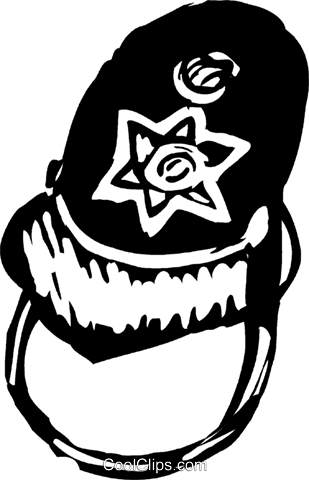 Police officer hat Royalty Free Vector Clip Art illustration vc044288