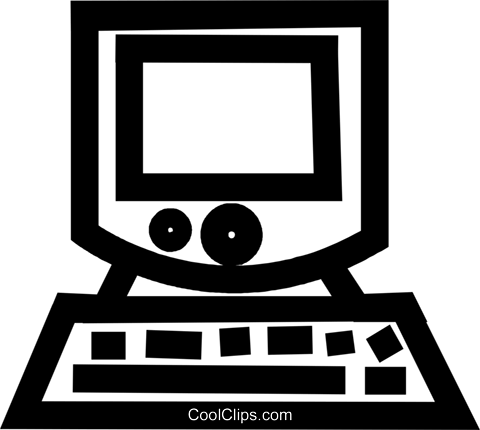 computer Royalty Free Vector Clip Art illustration vc044313