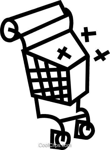 Shopping cart Royalty Free Vector Clip Art illustration vc044317