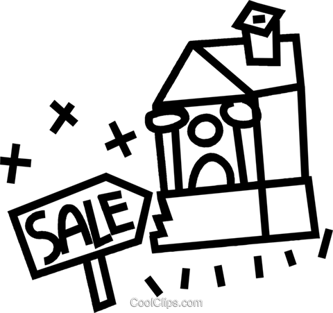 House for sale Royalty Free Vector Clip Art illustration vc044327