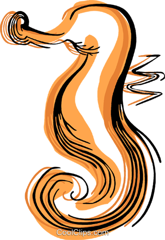 Sea horse Royalty Free Vector Clip Art illustration vc044340