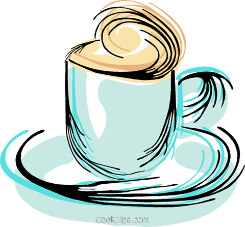 cup of coffee Royalty Free Vector Clip Art illustration vc044346