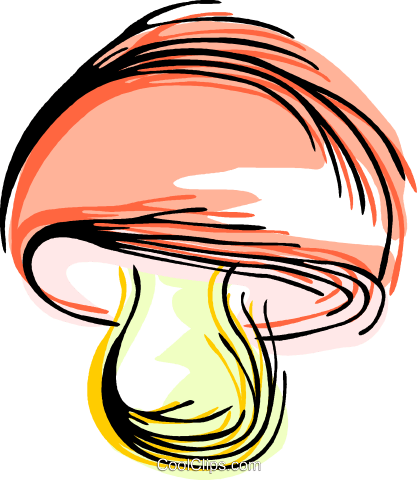 Mushroom Royalty Free Vector Clip Art illustration vc044348