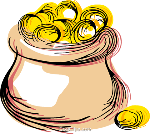 pot of gold Royalty Free Vector Clip Art illustration vc044353