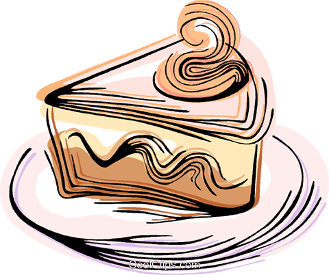 piece of pie Royalty Free Vector Clip Art illustration vc044361