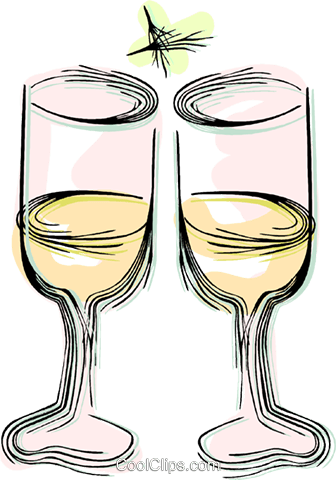 wine glasses Royalty Free Vector Clip Art illustration vc044363