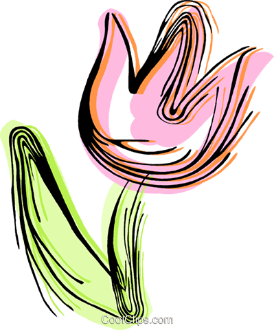Red tulip Royalty Free Vector Clip Art illustration vc044367