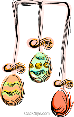 Easter eggs Royalty Free Vector Clip Art illustration vc044384