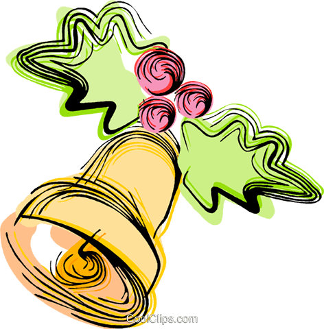 Christmas bell Royalty Free Vector Clip Art illustration vc044394