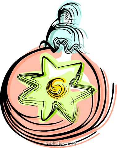 Christmas decoration Royalty Free Vector Clip Art illustration vc044402