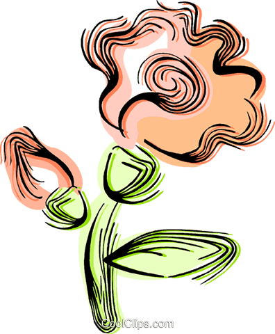 Flowers Royalty Free Vector Clip Art illustration vc044420