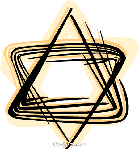 Star of David Royalty Free Vector Clip Art illustration vc044427