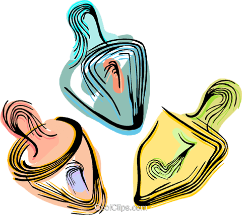 Dreidels Royalty Free Vector Clip Art illustration vc044429