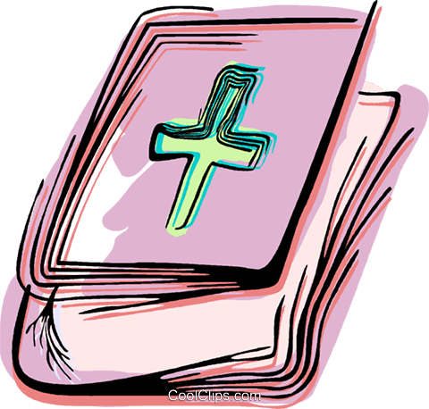 Bible Royalty Free Vector Clip Art illustration vc044430