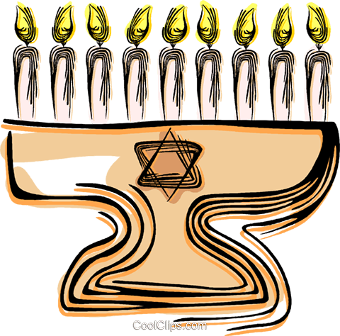 Menorah Royalty Free Vector Clip Art illustration vc044431