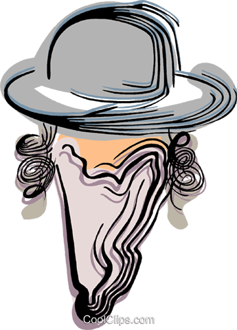 Rabbi Royalty Free Vector Clip Art illustration vc044433
