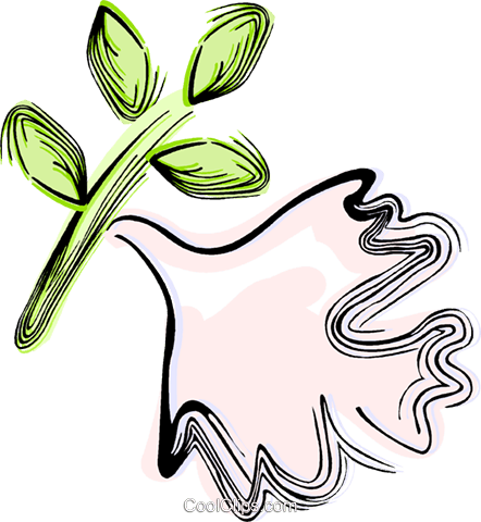 Dove of peace Royalty Free Vector Clip Art illustration vc044434