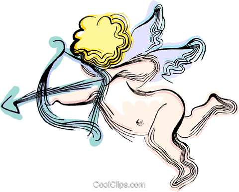 Cupid Royalty Free Vector Clip Art illustration vc044440