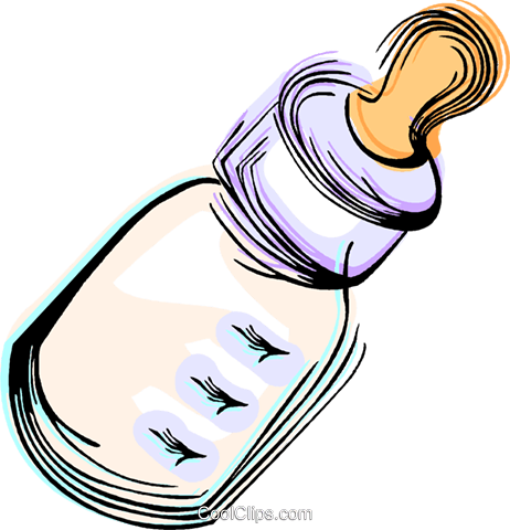 Baby bottle Royalty Free Vector Clip Art illustration vc044450