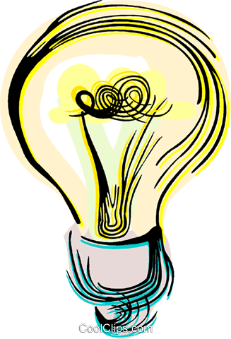 Light bulb Royalty Free Vector Clip Art illustration vc044459