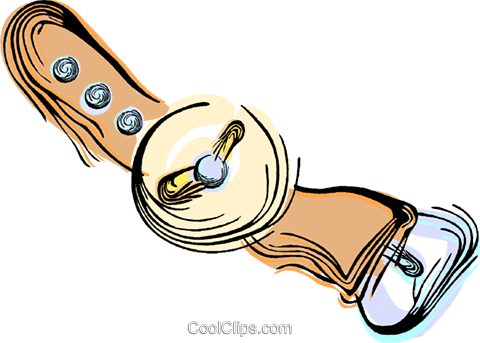 Wrist watch Royalty Free Vector Clip Art illustration vc044464