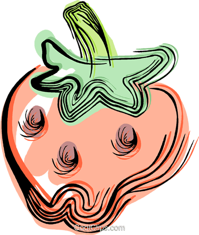 Strawberry Royalty Free Vector Clip Art illustration vc044467