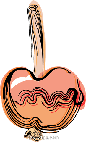 Candy apple Royalty Free Vector Clip Art illustration vc044475