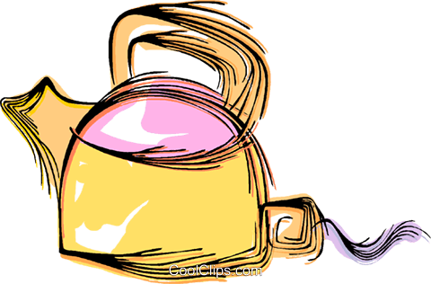 Boiling kettle Royalty Free Vector Clip Art illustration vc044480