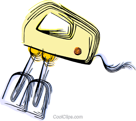 Electric mixer Royalty Free Vector Clip Art illustration vc044482