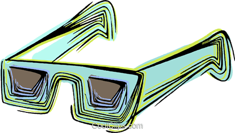 Sunglasses Royalty Free Vector Clip Art illustration vc044485