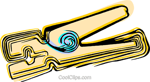 Clothes pin Royalty Free Vector Clip Art illustration vc044490