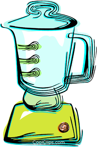 Electric blender Royalty Free Vector Clip Art illustration vc044491