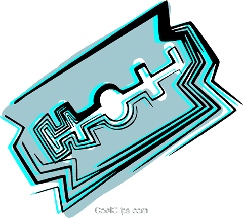 Razor blade Royalty Free Vector Clip Art illustration vc044502