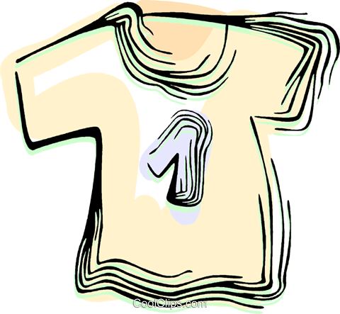 T shirt Royalty Free Vector Clip Art illustration vc044511
