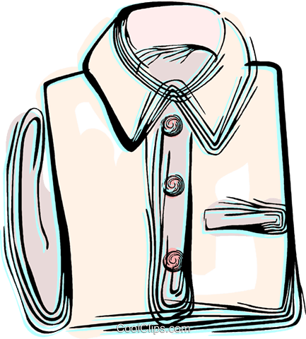 Dress shirt Royalty Free Vector Clip Art illustration vc044518