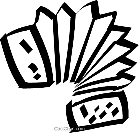 Accordion Royalty Free Vector Clip Art illustration vc044536