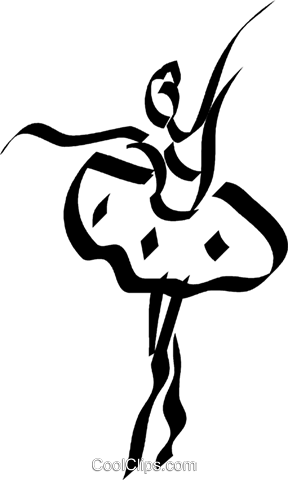 Ballerina Royalty Free Vector Clip Art illustration vc044538
