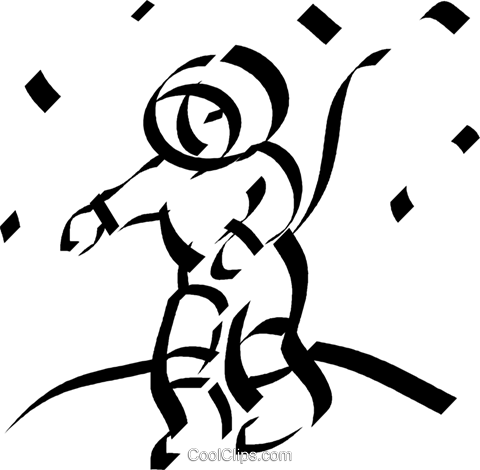 astronaut Royalty Free Vector Clip Art illustration vc044544