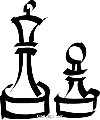Chess pieces Royalty Free Vector Clip Art illustration vc044552