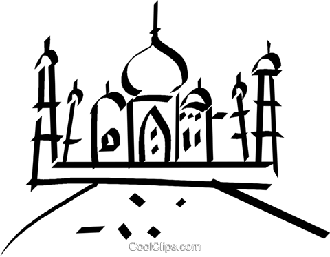 Taj Mahal Royalty Free Vector Clip Art illustration vc044558