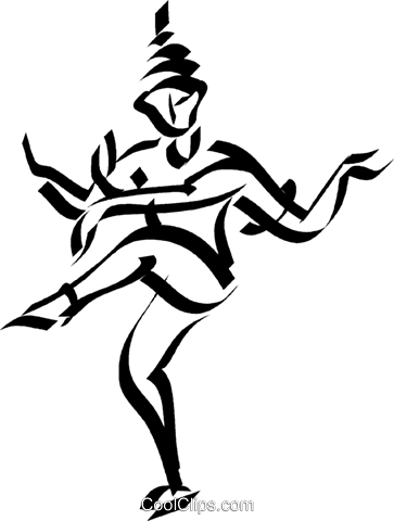 exotic dance Royalty Free Vector Clip Art illustration vc044571