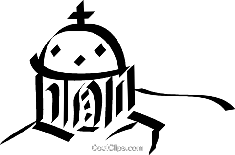 Cathedral Royalty Free Vector Clip Art illustration vc044610