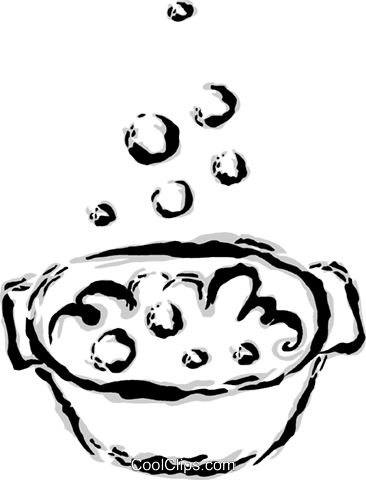cooking pot Royalty Free Vector Clip Art illustration vc044637