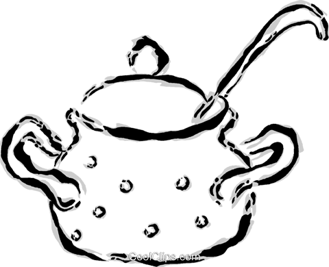 Pot of soup Royalty Free Vector Clip Art illustration vc044652