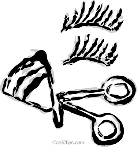 eyelash curlers Royalty Free Vector Clip Art illustration vc044757